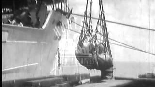 Port of Georgetown, British Guiana, 1930's.  Archive film 94264