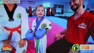 Australian Martial Arts on the Today Show- Complete Mini Dragons and Lil Dragons video