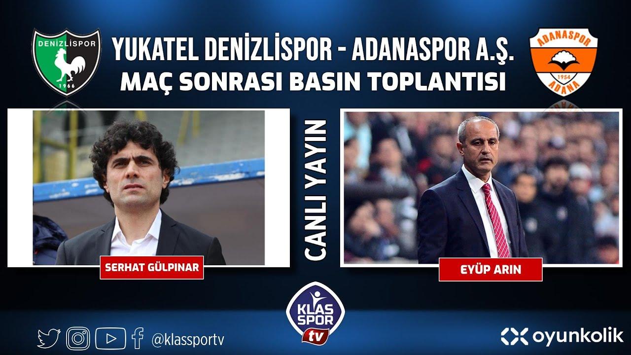 Denizlispor - Adanaspor Basın Toplantısı ᴴᴰ (CANLI)