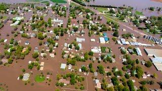DeWitt, Nebraska Flooding Flyover