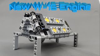 The brand new Lego W-16 Engine from the 42083 Bugatti Chiron