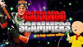 *CAZANDO a SCAMMER* que SCAMMEA por ABURRIMIENTO (CANTA CAILLOU) Fortnite Salvar el mundo #2