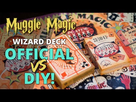 Harry Potter Wizard Card Deck Comparison - OFFICIAL VS DIY!