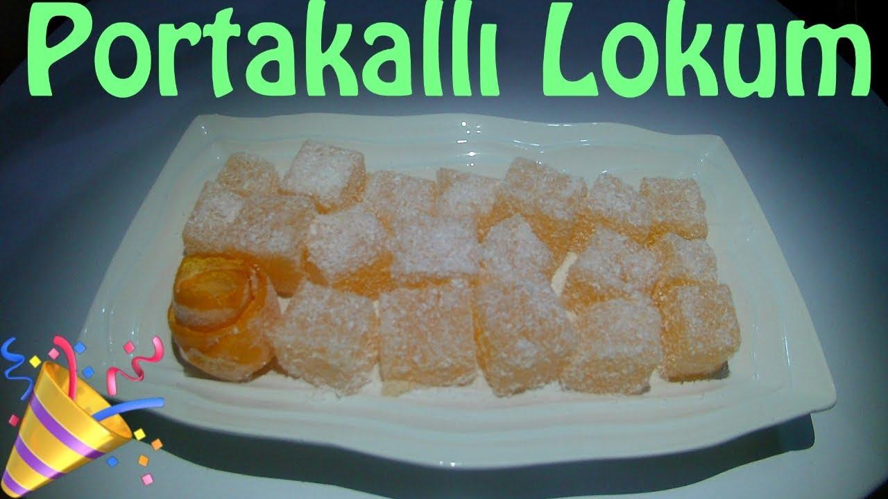 4 Malzemeli Portakallı Lokum Tarifi
