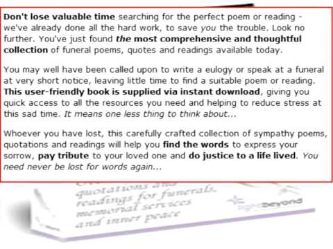 Appropriate Poems For Funerals