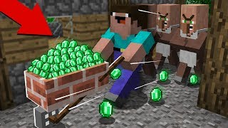 NOOB STOLE ALL TREASURES FROM THE VILLAGERS! in Minecraft Noob vs Pro