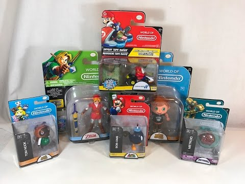 "World of Nintendo | Product Lineup Review - Tape Racers, 2.5"" and 4"" Figures!"