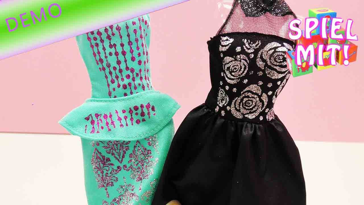 barbie glitzerfashion selber machen t rkises kleid mit glitzer demo 2 youtube. Black Bedroom Furniture Sets. Home Design Ideas