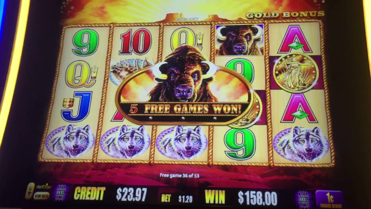 Buffalo slot machine spin bonus