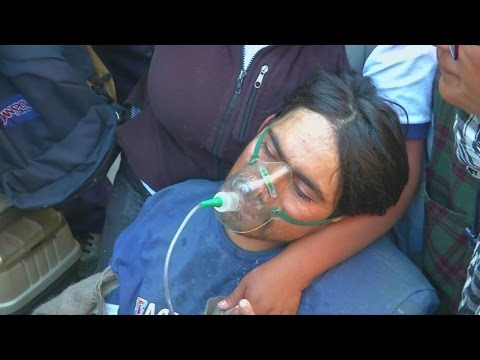 Disabled protestors tear gassed and pepper sprayed by Bolivian police