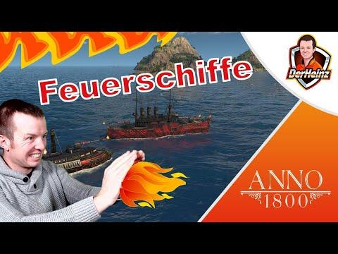 Mit Feuerschiffen den Gegnern ordentlich einheizen 🔥🚢 | Spezialschiffe | ANNO 1800 Tutorial deutsch |