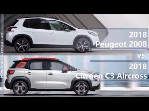2018 Peugeot 2008 vs 2018 Citroen C3 Aircross (technical comparison)
