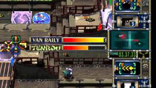 Trap Gunner PSX Gameplay, Van Raily vs Tenrou Ugetsu