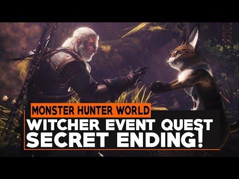 Monster Hunter World: HOW TO GET WITCHER QUEST SECRET ENDING!