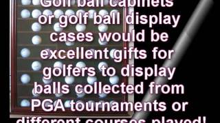 Golf Ball Cabinets, Golf Ball Display Cases For Golfers