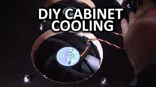 Entertainment Center Cooling Mod - Linus Diy Method