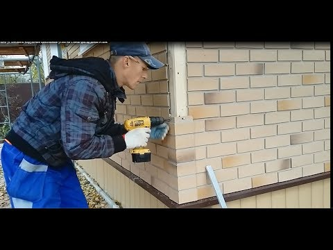 Установка цокольных углов Docke как правильно установить  на стены фасад дома