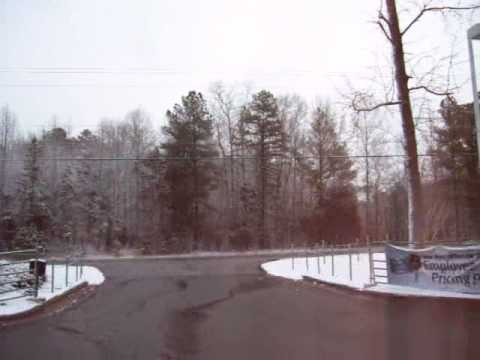 snow in the south snow at burns ford mercury lancaster sc youtube youtube