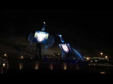 Singapore resort world night port show