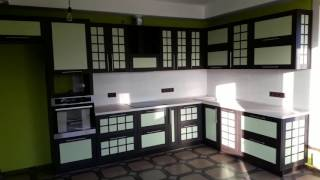 Кухня с AGT-фасадами в японском стиле. Фурнитура BLUM