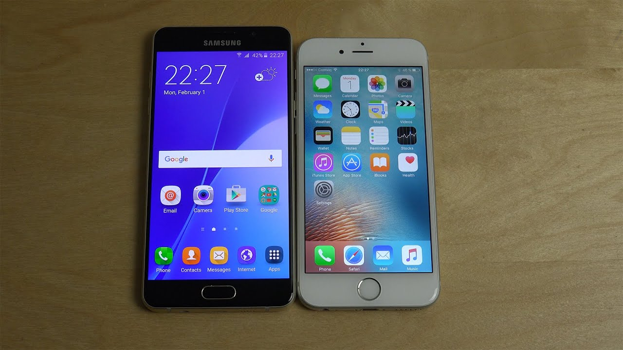 samsung a5 2019 vs iphone 6s
