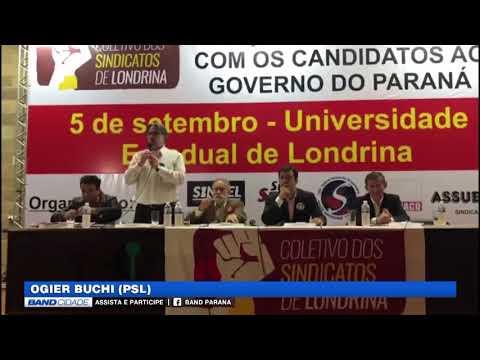 Eleições 2018 - Confira a agenda dos candidatos ao Governo do PR 05/09/2018  TV BAND