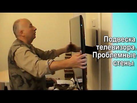 Как повесить телевизор. Настенное крепление Vogels, стены проблемные