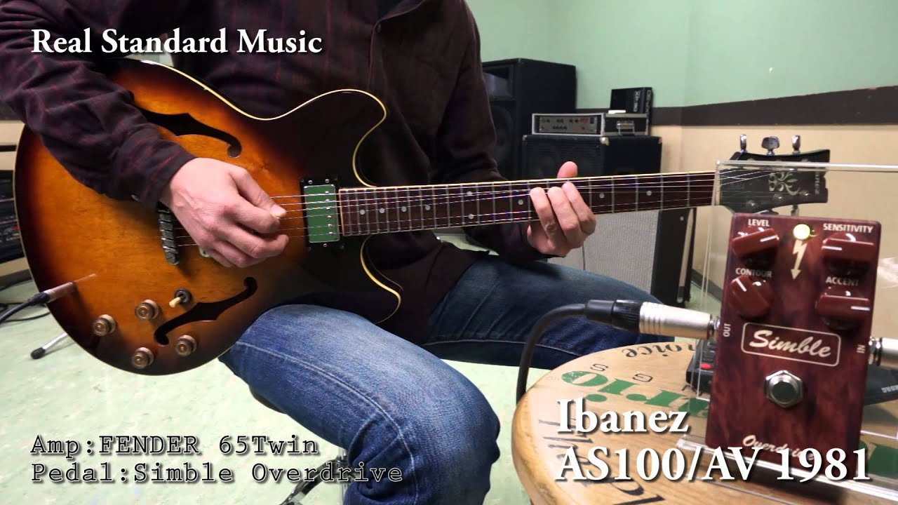 ibanez as100 av 1981 youtube