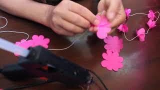 Цветочные гирлянды из бумаги тишью ( Floral garlands of paper silently )