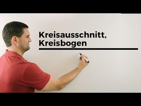 Kreisausschnitt, Kreisbogen, Kreise | Mathe by Daniel Jung from YouTube · Duration:  3 minutes 51 seconds