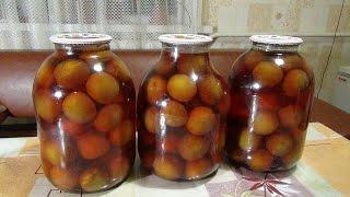 #Компот из #слив на зиму. Stewed plums.
