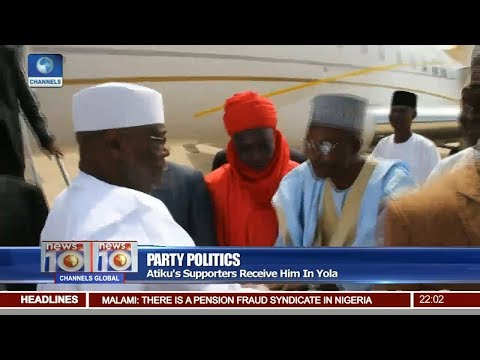 Atiku's Supporters Receive Him In Yola Pt 1 | News@10 |