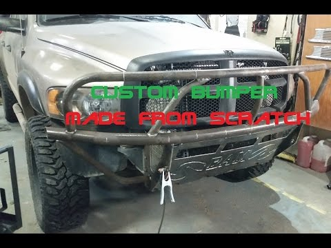 Custom SHTF Bumper Dodge Cummins Fabrication tube bumper part 1