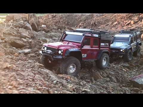 [Music Free] Traxxas TRX-4 LandRover Defenders - Off-road driving at sunset