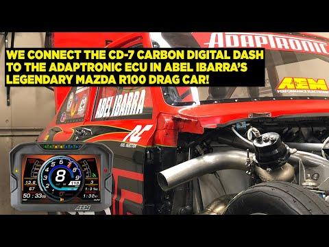 Connecting AEM's CD-7 Dash To The Adaptronic ECU In Flaco Racing's Legendary Mazda R100 Drag Car!