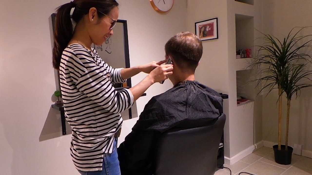 Men S Haircut Double Cut Hairstyle Model Fabio Youtube