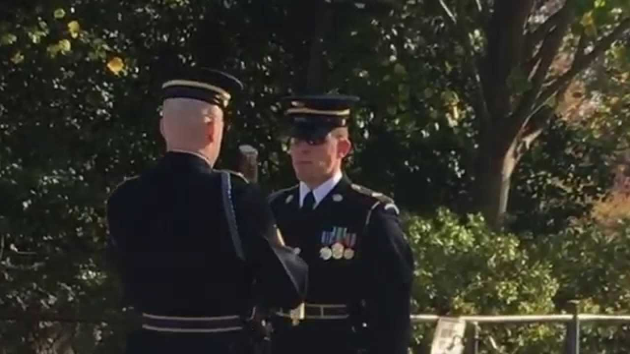 Guard Gets A Bayonet Through His Foot During Changing Of The