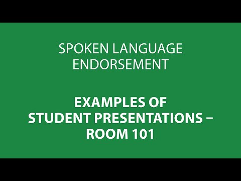 Speaking and listening units - 05 - Room 101 - Individual extended contribution