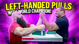LEFT-HANDED PULLS WITH THE WORLD CHAMPION!
