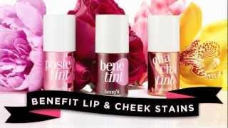 Benefit Cosmetics iconic tints: benetint, posietint, & chachatint