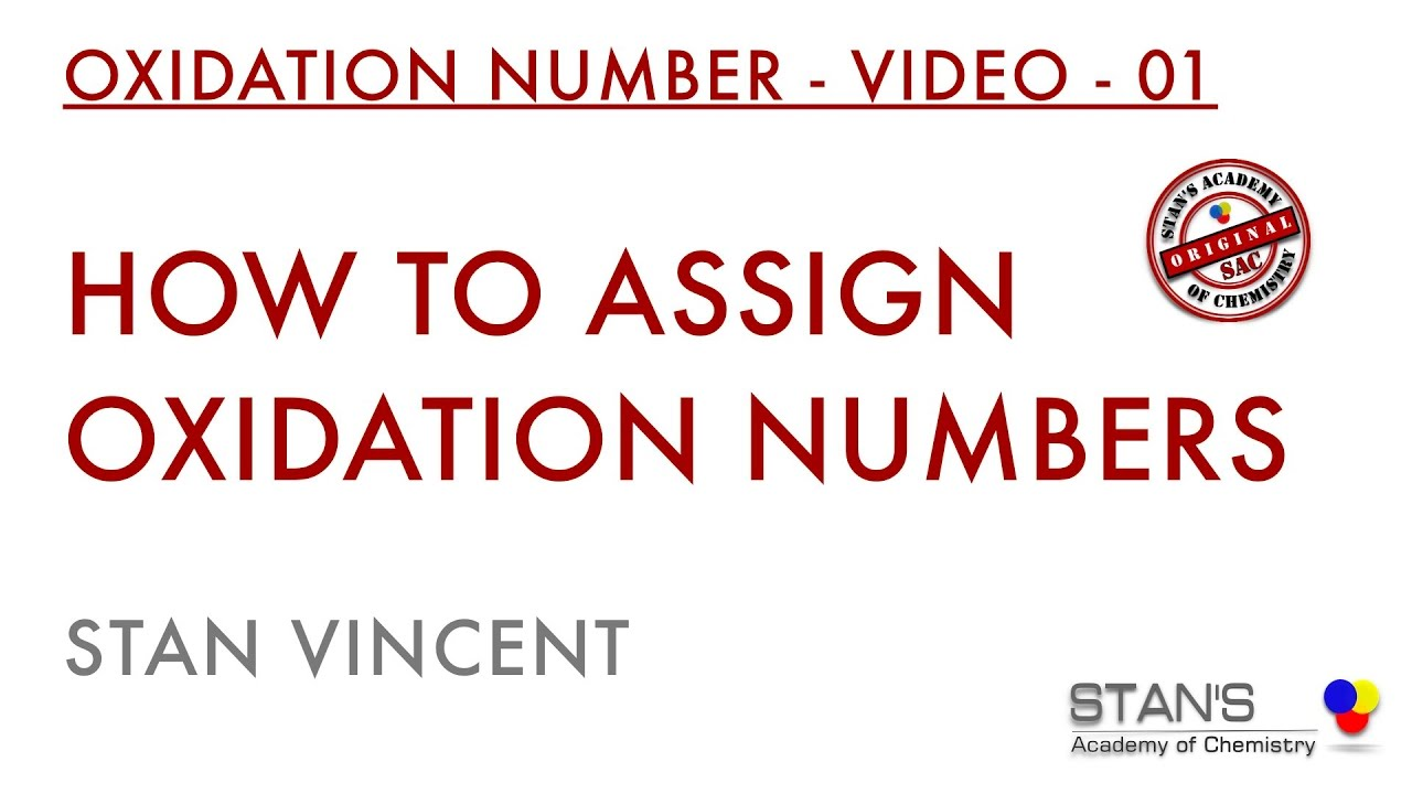 How To Assign Oxidation Numbers Redox Reactions Youtube