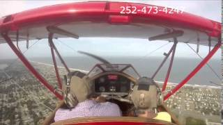 Outer Banks Air Tours in WWII Trainer Biplane: Ted and Sarah Thumbnail