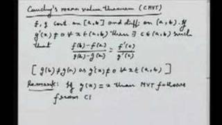 Lecture 9 - Mean Value Theorems