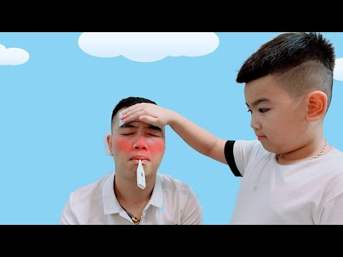 Sick Song Nursery Rhymes Daddy Songs 病気の歌 Cubin Kids TV