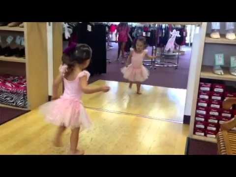 First dance solo in dance store