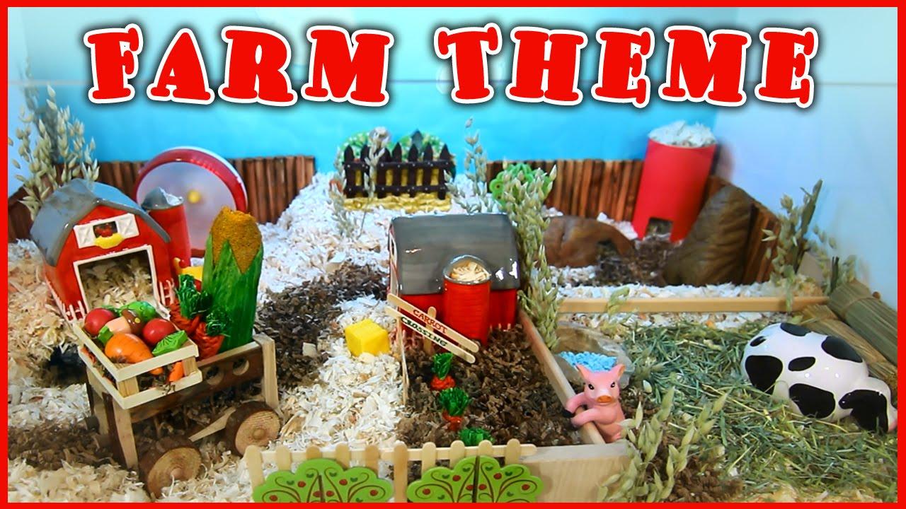 farm themed hamster cage