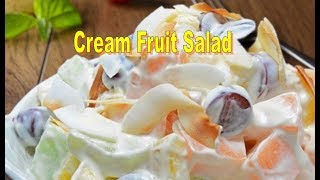 instant fruit cream dessert recipe