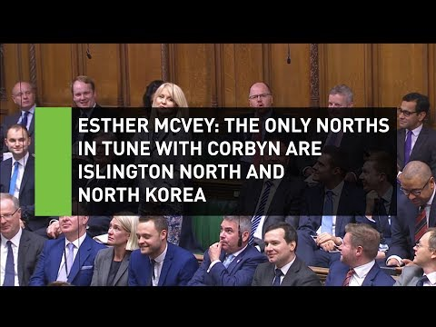 McVey: Only Norths in tune with Corbyn is Islington & Korea