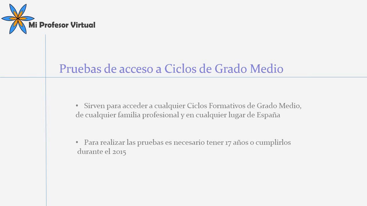 Pruebas Acceso A Ciclos De Grado Medio Y Superior Murcia Convocatoria 2015