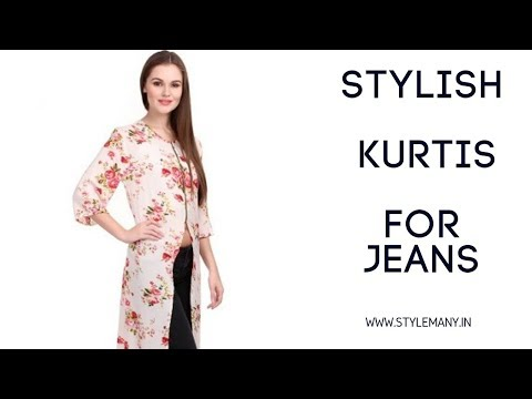 Best and Stylish kurtis for Jeans Girls